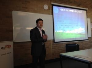 Chinese delegation member presentation